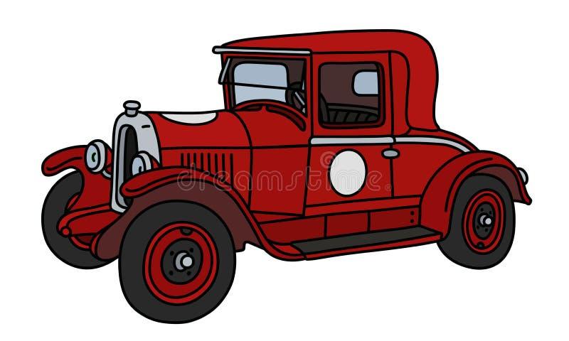 Винтажное красное racecar иллюстрация вектора