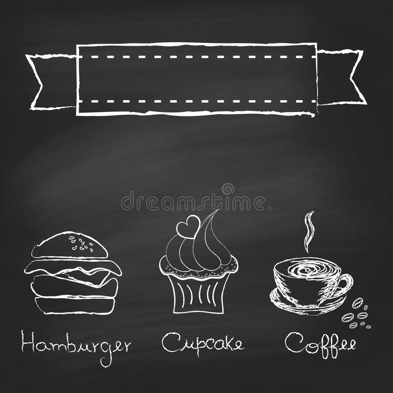 Винтажное меню доски иллюстрация вектора