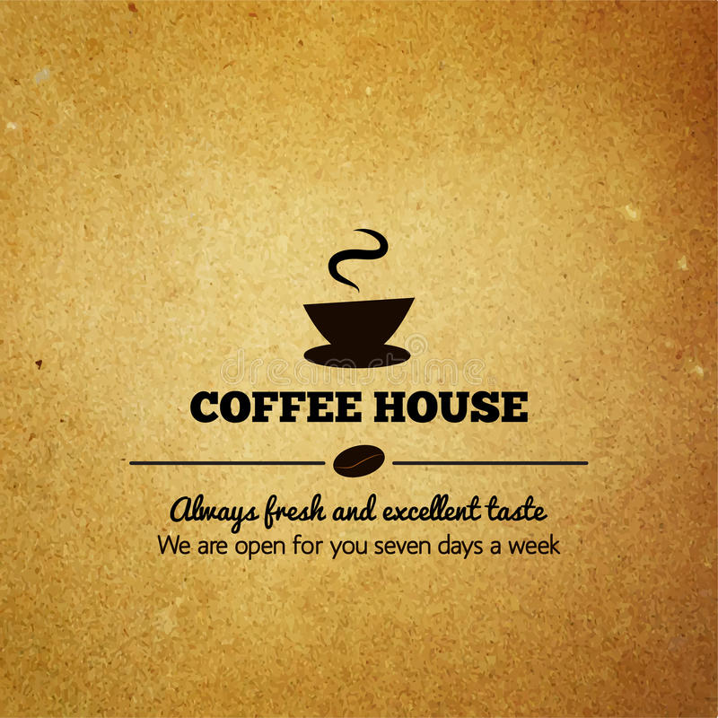Винтажное меню для ресторана, кафа, кофейни иллюстрация вектора