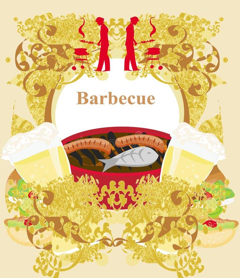 Download Винтажное приглашение партии барбекю Иллюстрация вектора - иллюстрации насчитывающей экземпляр, backhoe: 41655884