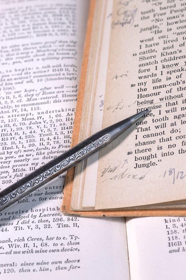 Винтажное сочинительство стенографии стоковые фотографии rf