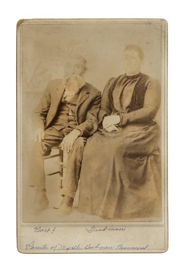 Винтажное фото пар усаженных для портрета стоковое фото rf