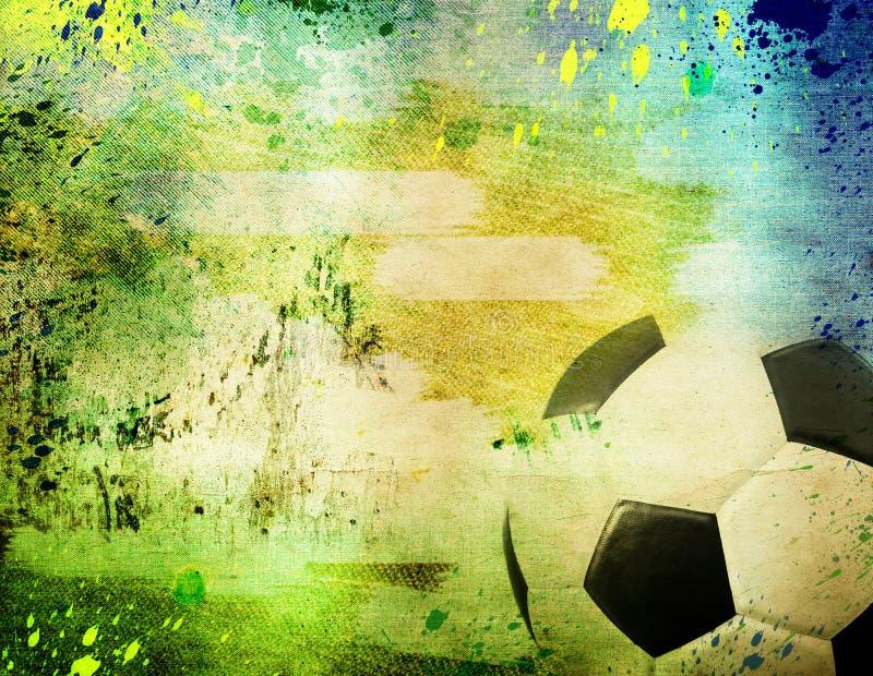 Винтажное фото футбольного мяча Бразилии 2014 бесплатная иллюстрация