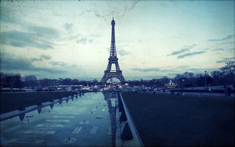Винтажное фото Эйфелева башни стоковое фото