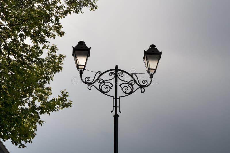 Винтажное фото lampot улицы стоковая фотография