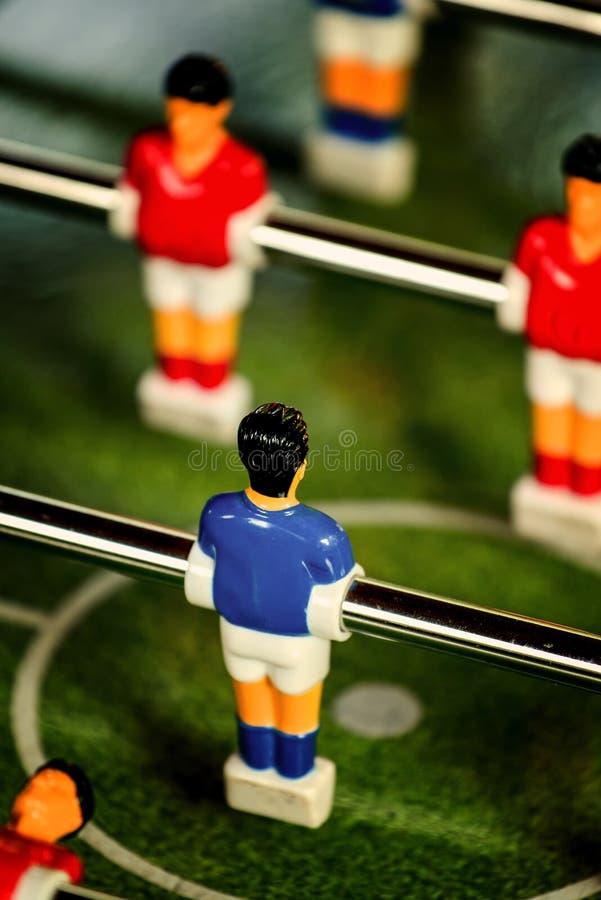Винтажное Foosball, футбол таблицы или игра брыкуньи футбола стоковое изображение rf