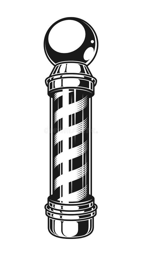Винтажной striped парикмахерской шаблон поляка иллюстрация вектора