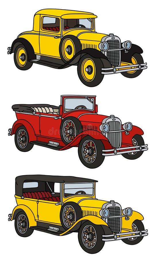 Винтажные автомобили бесплатная иллюстрация