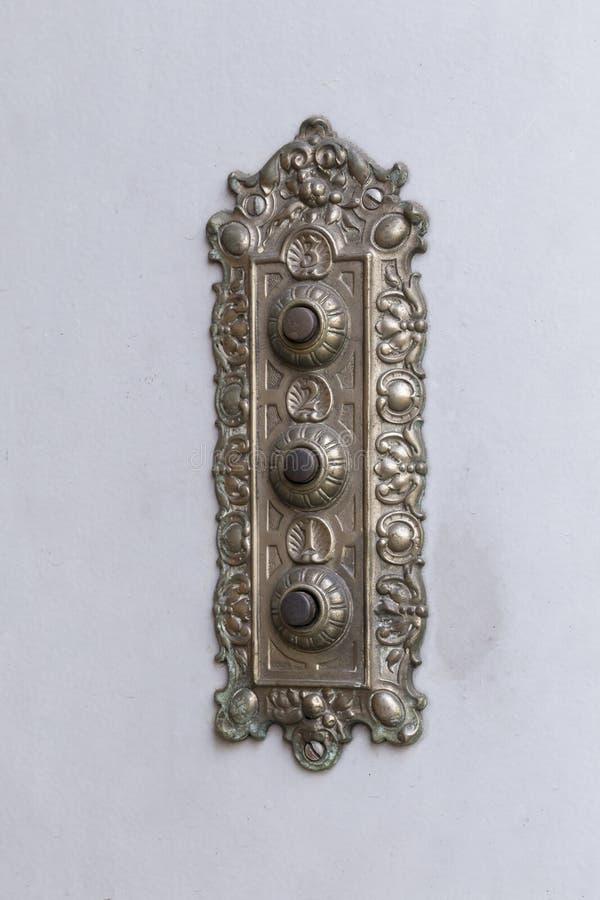 Винтажные дверные звонки стоковая фотография rf