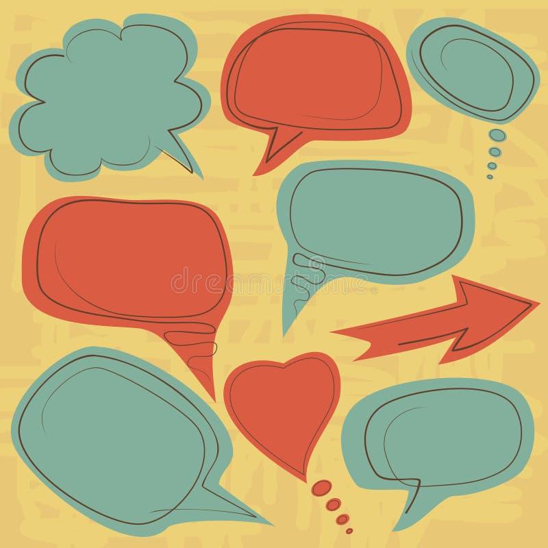 Винтажные воздушные шары речи бесплатная иллюстрация