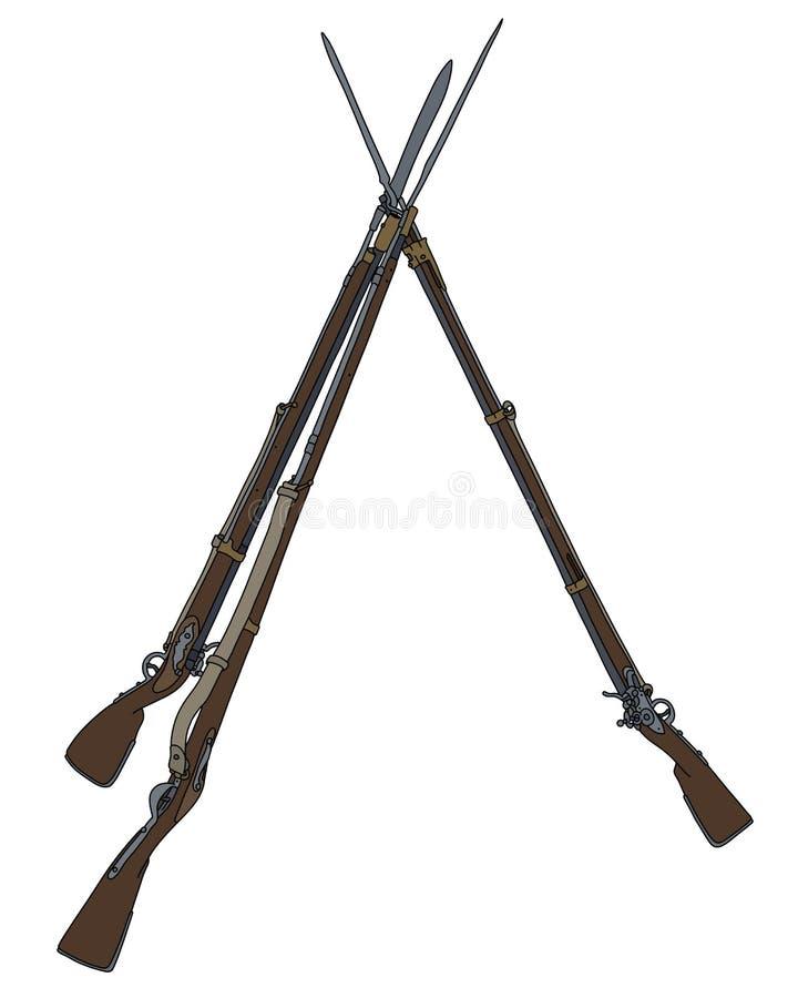 Винтажные воинские оружи бесплатная иллюстрация