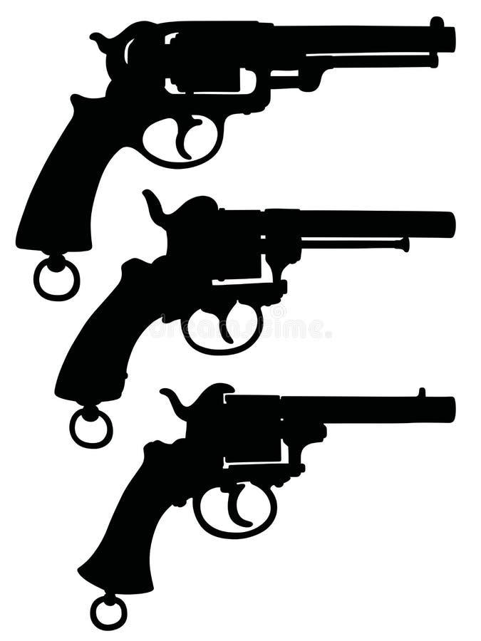 Винтажные воинские револьверы бесплатная иллюстрация