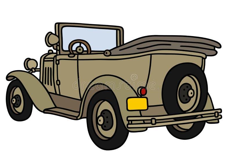 Винтажные войска раскрывают автомобиль бесплатная иллюстрация