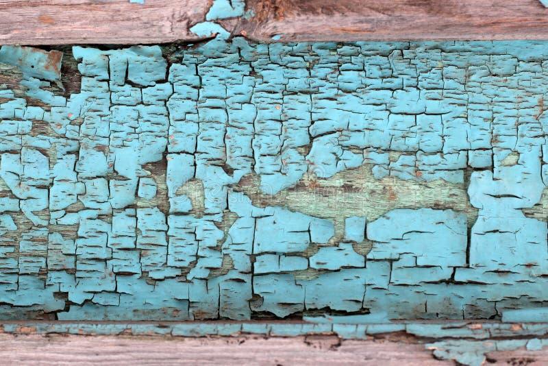 Винтажные деревянные планки с остатками голубой краски как предпосылка стоковая фотография rf