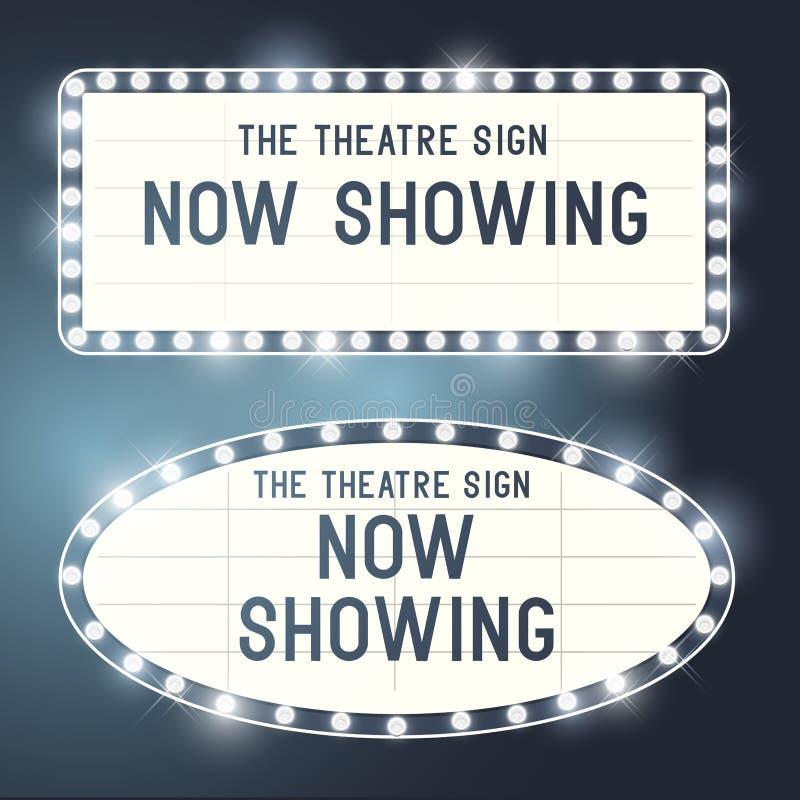 Винтажные знаки Showtime бесплатная иллюстрация