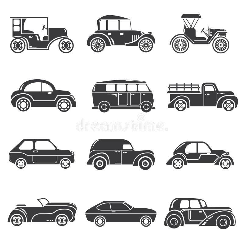 Винтажные значки автомобиля бесплатная иллюстрация