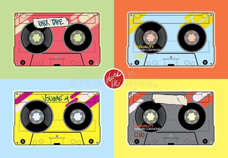 Винтажные кассеты Иллюстрация запаса плоского design†« бесплатная иллюстрация