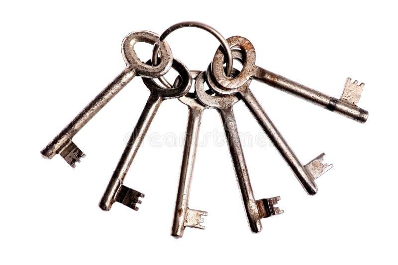 Винтажные ключи двери на кольце стоковое фото
