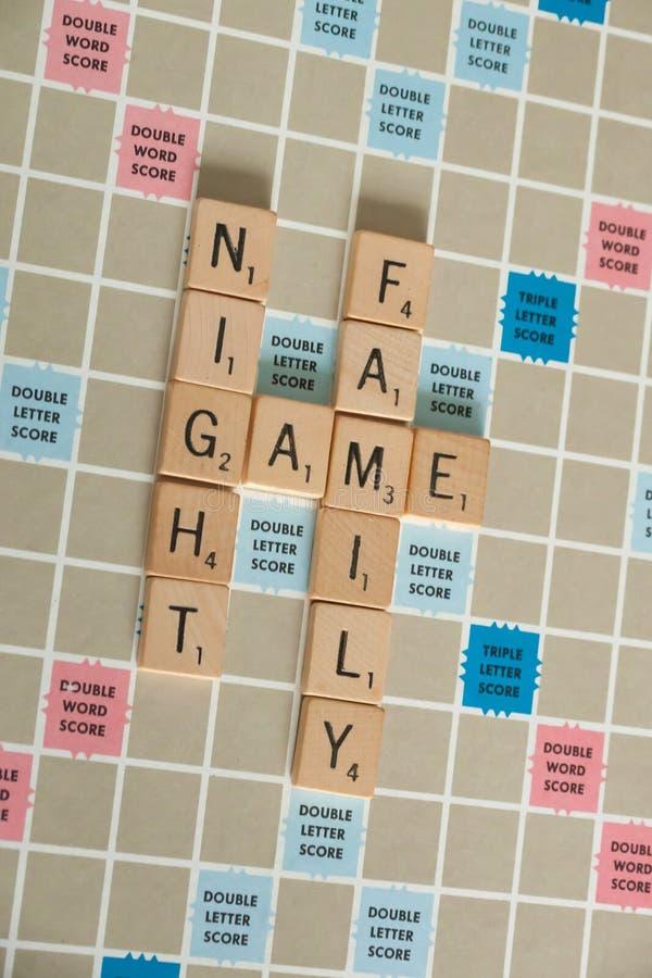 Винтажные настольные игры - скрэббл стоковое изображение