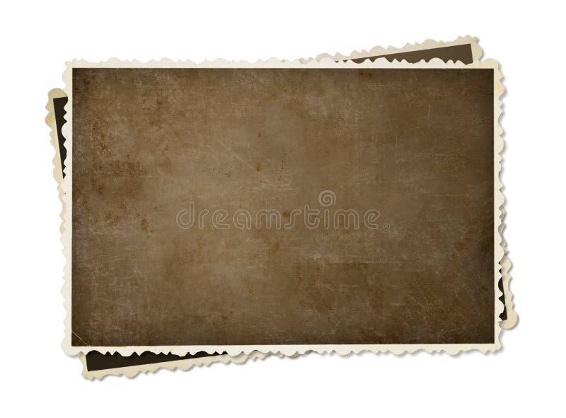 Винтажные немедленные изолированные рамки фото стоковое фото