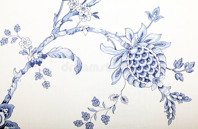 Винтажные обои с голубой картиной виньетки стоковая фотография