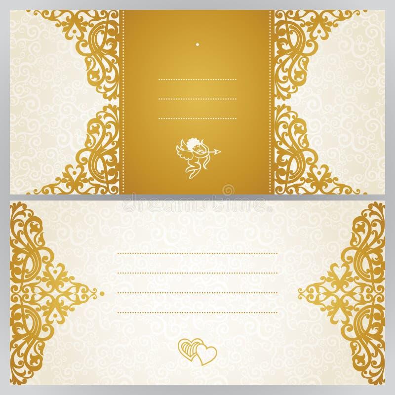 Винтажные поздравительные открытки с флористическими мотивами в Victo иллюстрация вектора