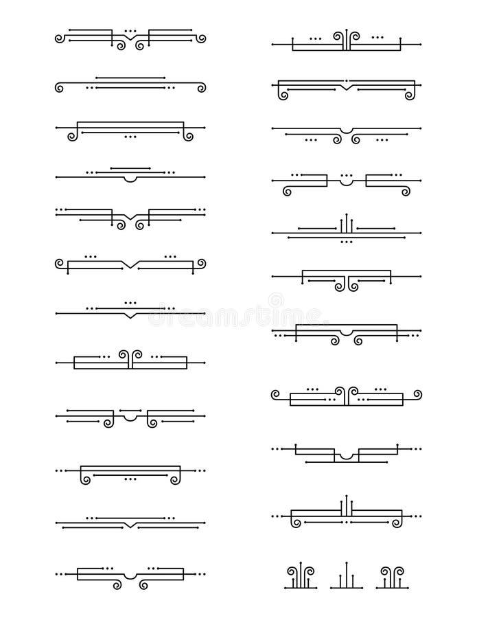 Винтажные рассекатели текста стиля Арт Деко стоковые изображения rf