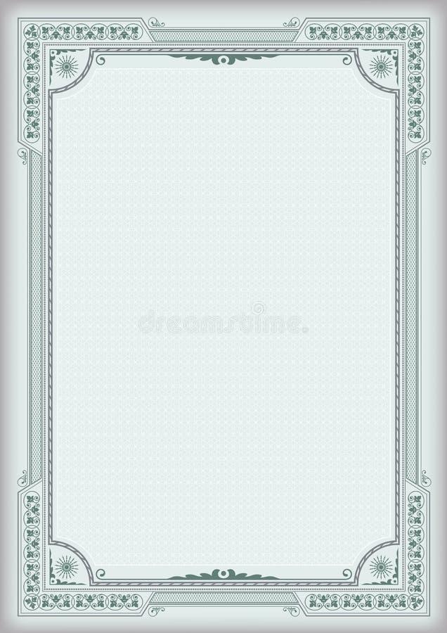 Винтажные ретро рамки и предпосылка иллюстрация штока