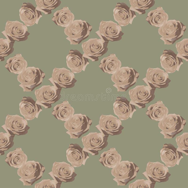 Винтажные розы на чувствительной предпосылке стоковое изображение rf