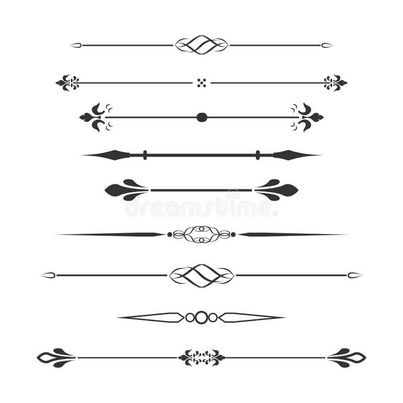 Винтажные элементы стиля проектных работ также вектор иллюстрации притяжки corel стоковое изображение rf