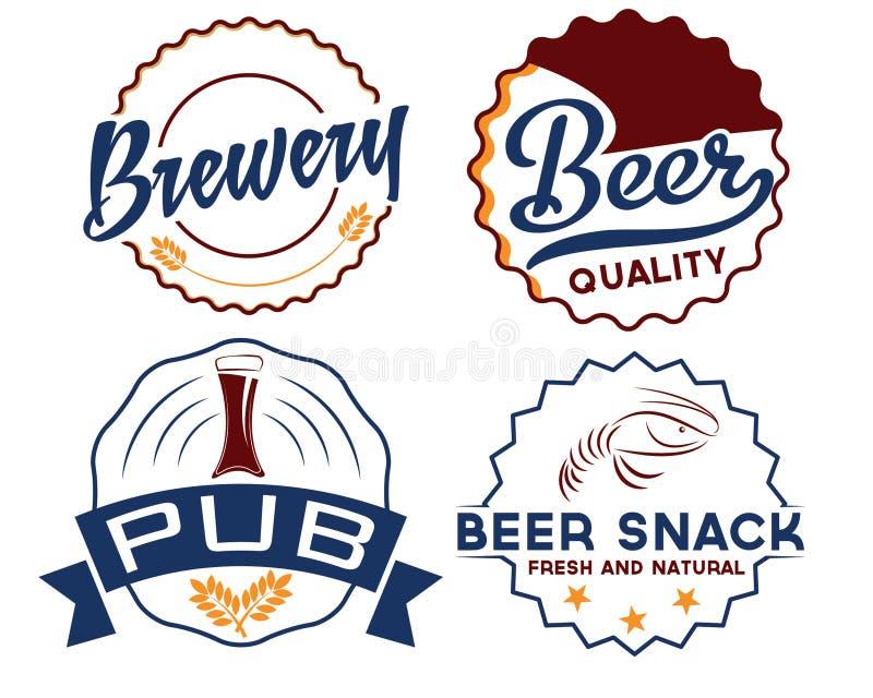 винтажные эмблемы пива бесплатная иллюстрация