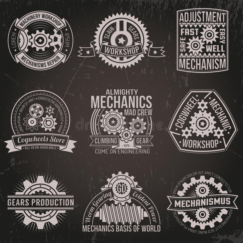 Винтажные эмблемы иллюстрация вектора