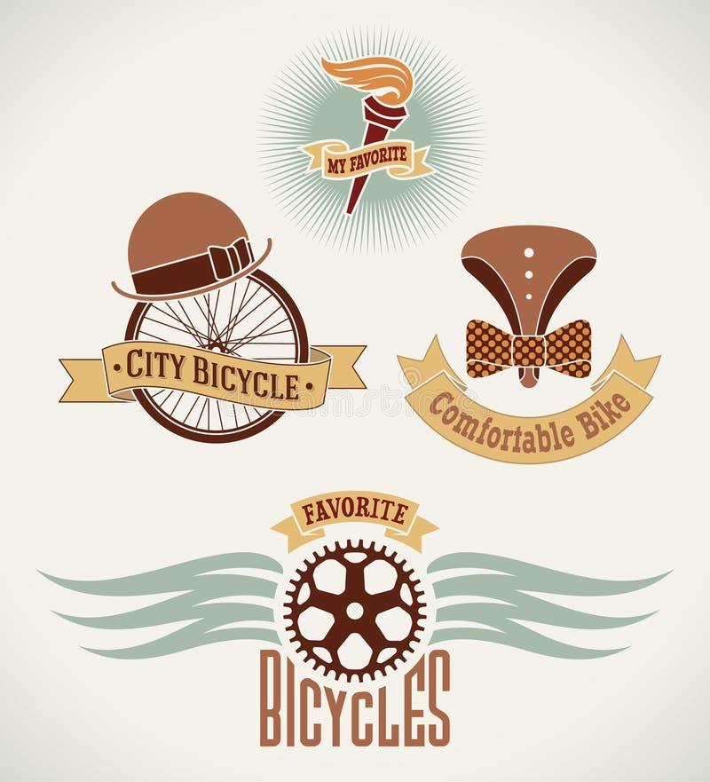 Винтажные ярлыки велосипеда бесплатная иллюстрация