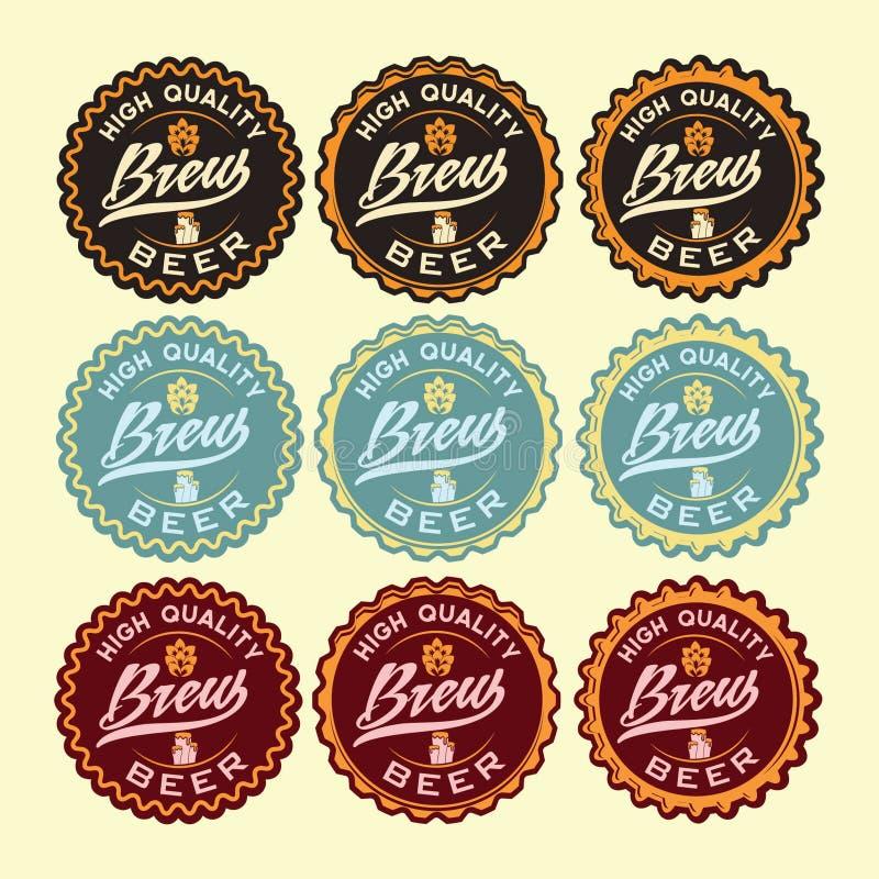 Винтажные ярлыки пива бесплатная иллюстрация