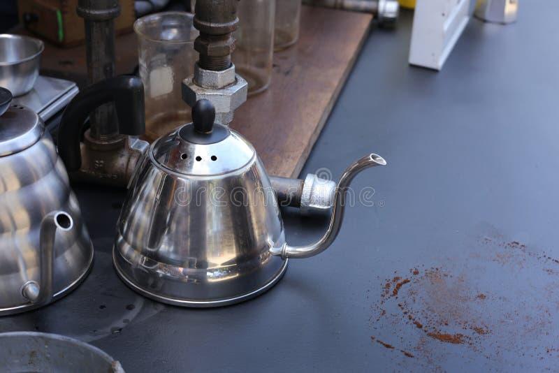Винтажные kios хипстера кофе на улице стоковое фото rf