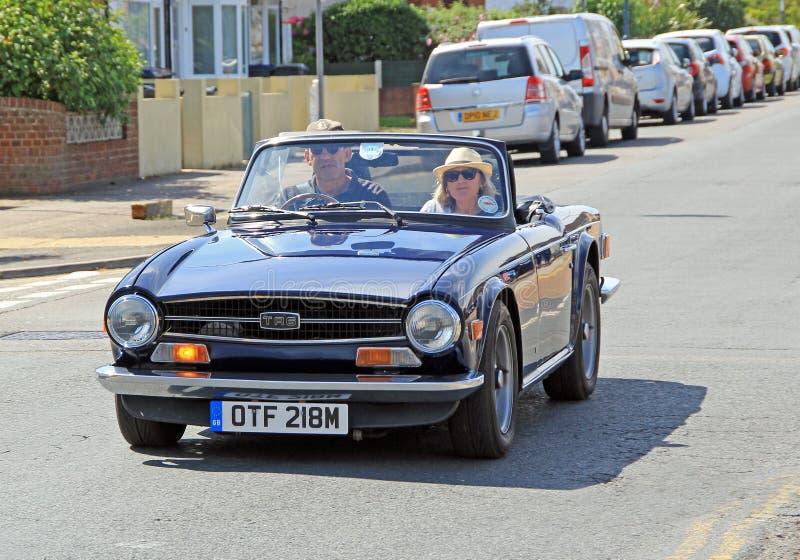 Винтажный автомобиль триумфа tr6 стоковое изображение