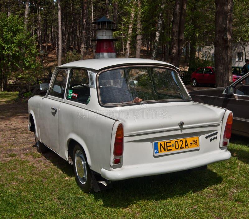Винтажный автомобиль Trabant припаркованное 501 стоковые фото