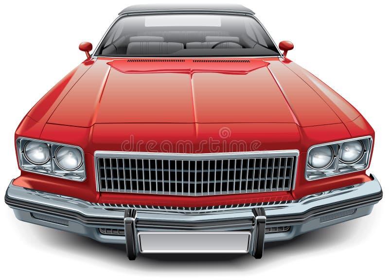 Винтажный американский автомобиль с откидным верхом coupe бесплатная иллюстрация