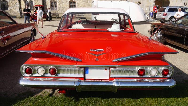 Винтажный американский классический автомобиль, Шевроле Biscayne стоковая фотография