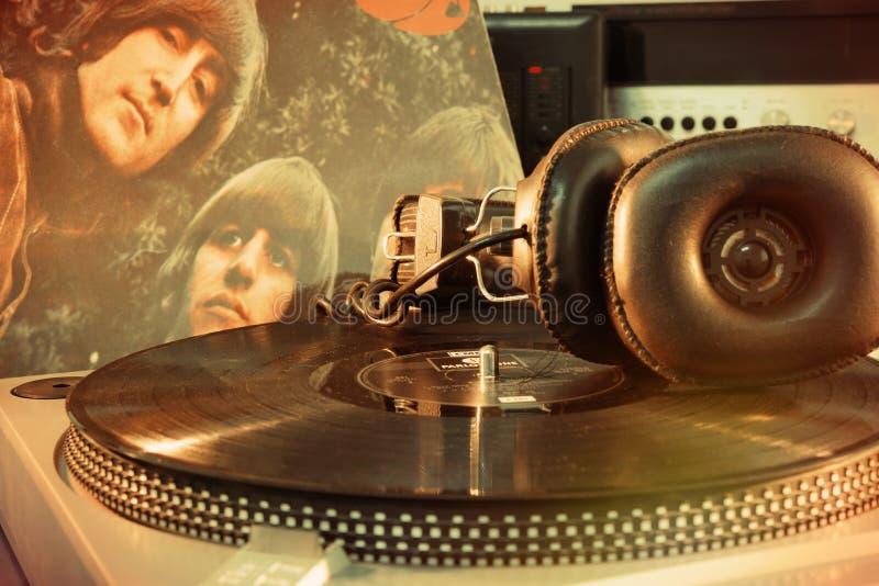 Винтажный альбом Beatles стоковая фотография