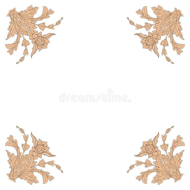 Винтажный барочный орнамент переченя рамки бесплатная иллюстрация