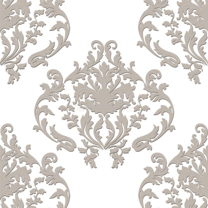 Винтажный барочный орнамент иллюстрация штока