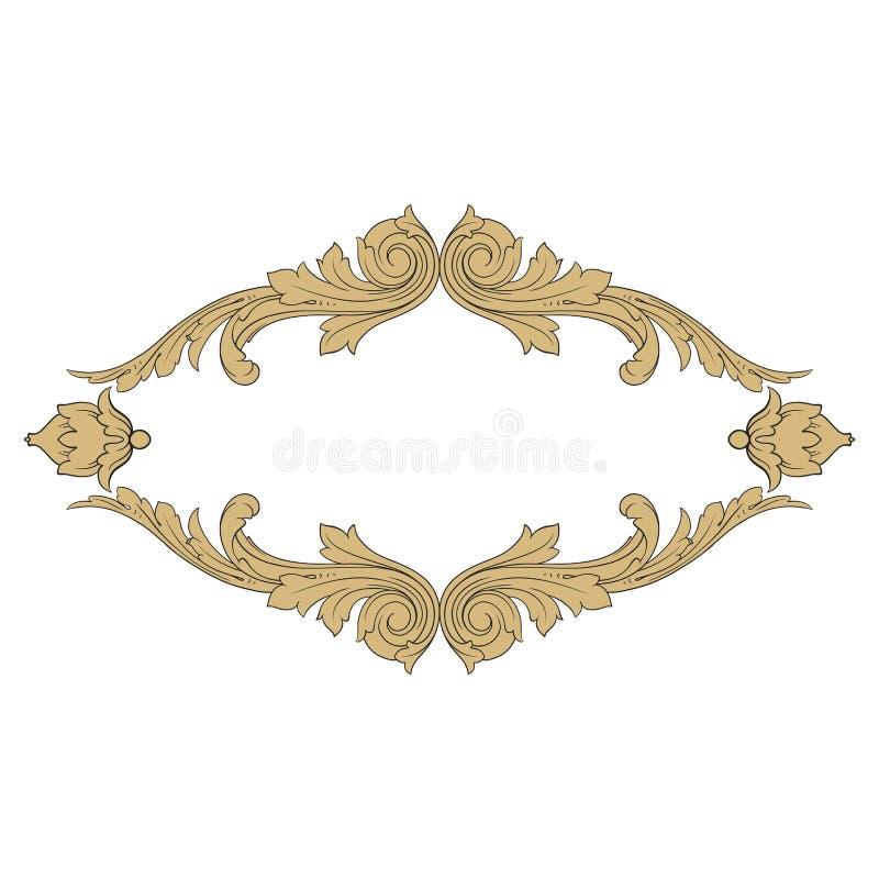 Винтажный барочный элемент орнамента иллюстрация штока