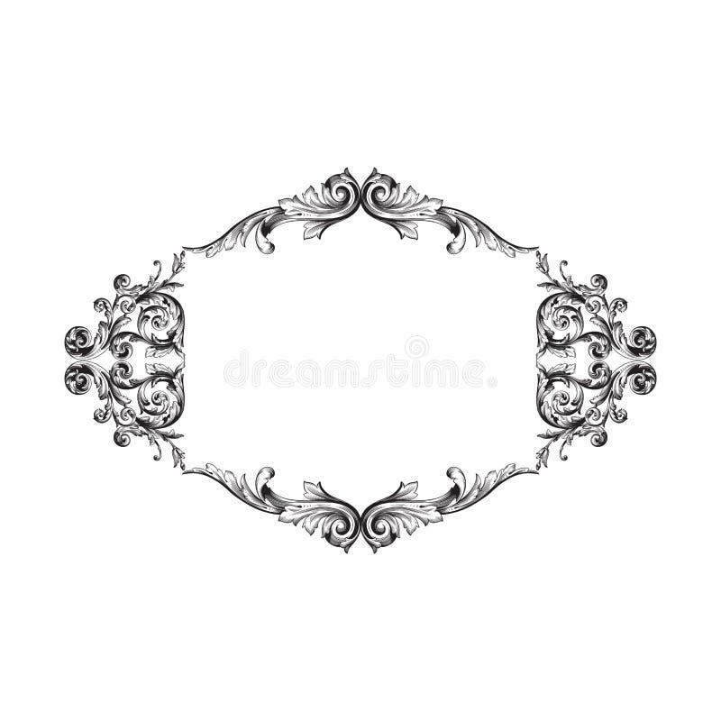 Винтажный барочный элемент орнамента бесплатная иллюстрация