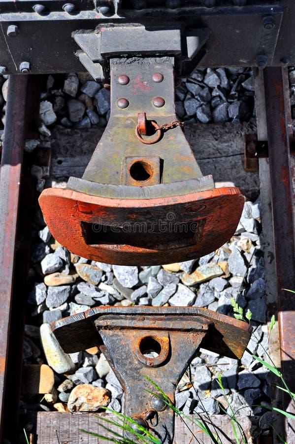 Винтажный буфер поезда стоковое фото