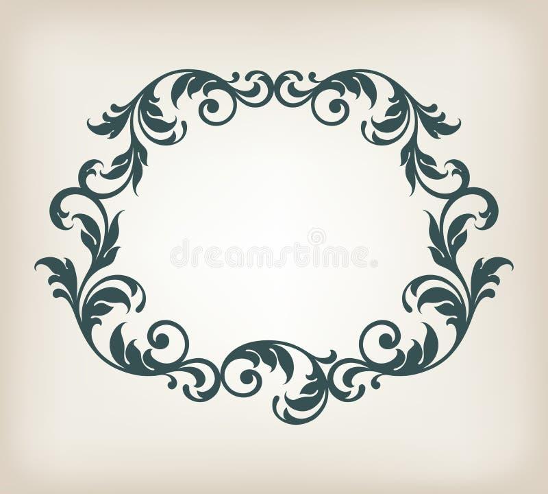 Винтажный вектор каллиграфии орнамента рамки границы бесплатная иллюстрация