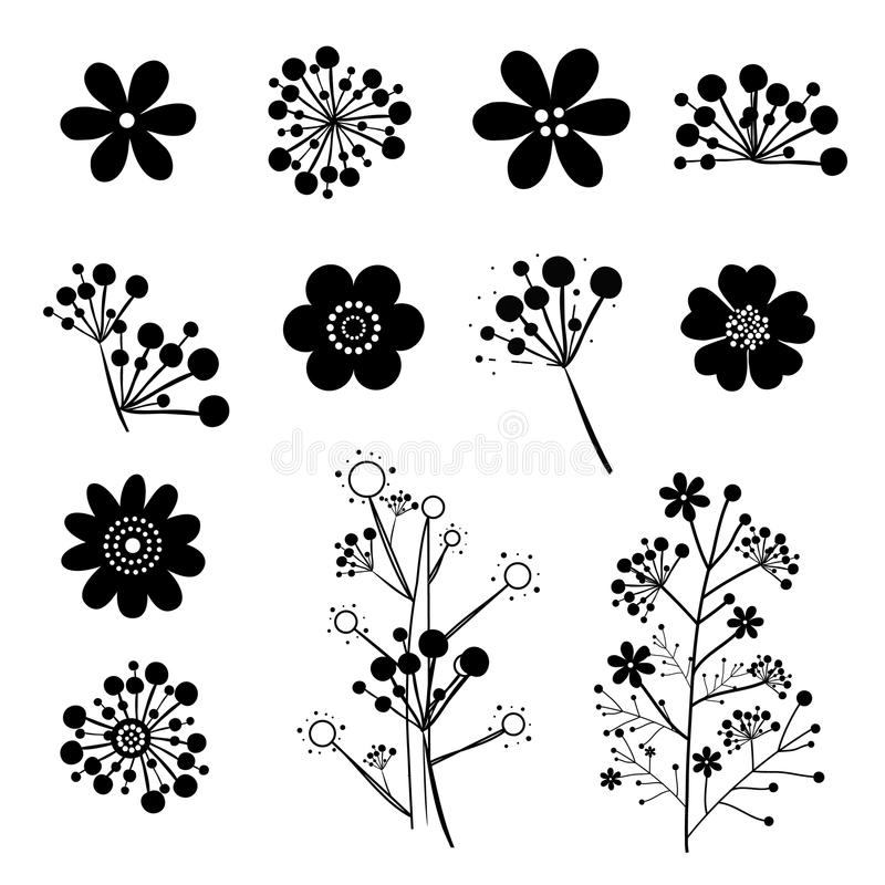 Винтажный вектор цветка стоковое фото