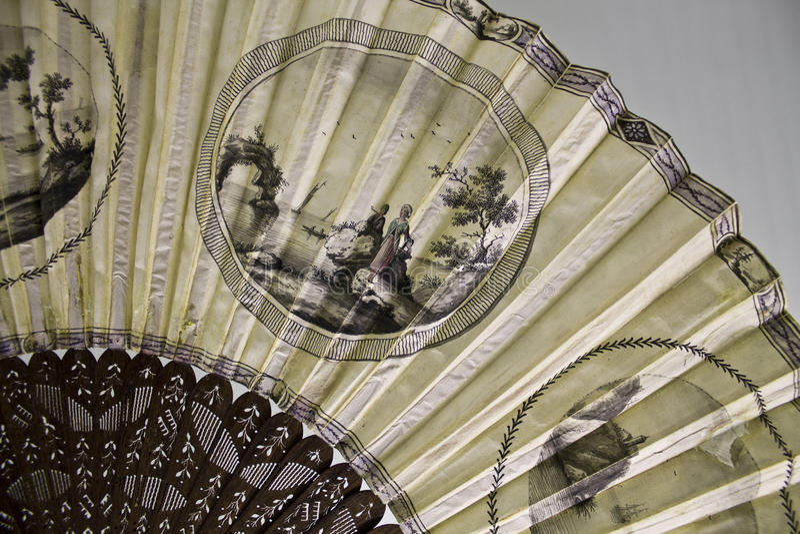 Винтажный вентилятор руки стоковое изображение