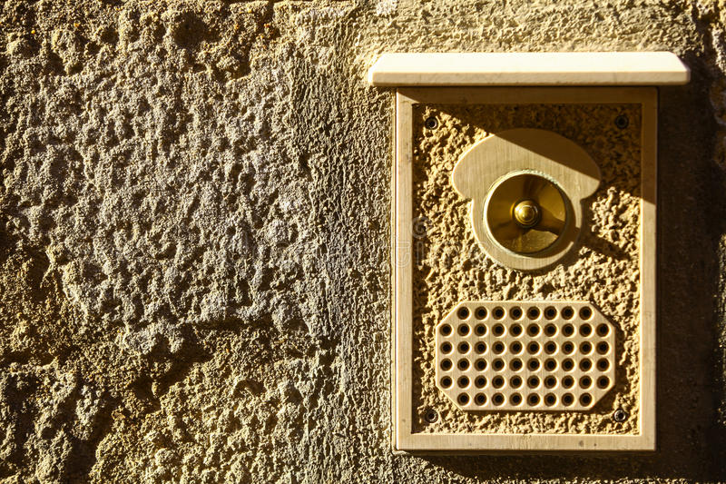 Винтажный дверной звонок стоковые изображения rf