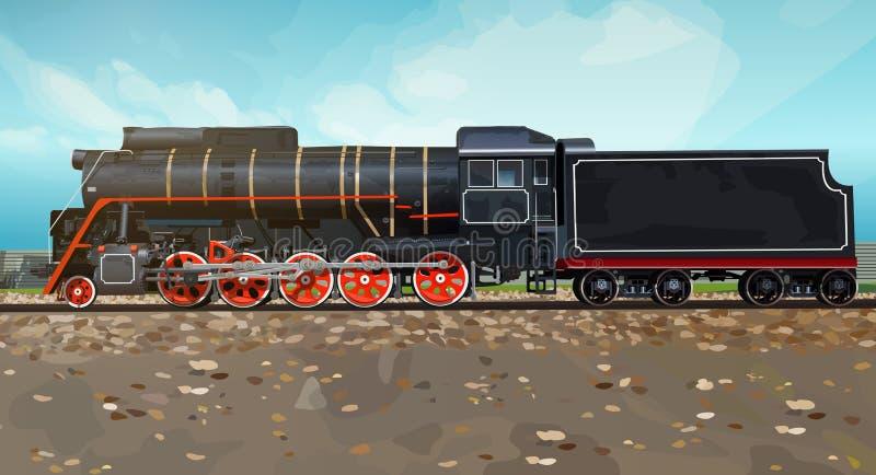 Винтажный взгляд со стороны поезда бесплатная иллюстрация